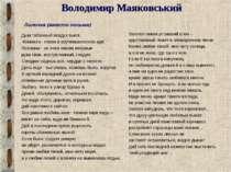 Володимир Маяковський Лиличка (вместо письма) Дым табачный воздух выел. Комна...