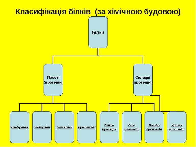 Класифікація білків (за хімічною будовою)