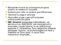 Механізм оплати за електронні ресурси, (навіть за наявності грошей) Купівля д...