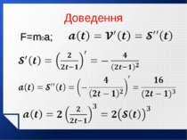 Доведення F=m0a;