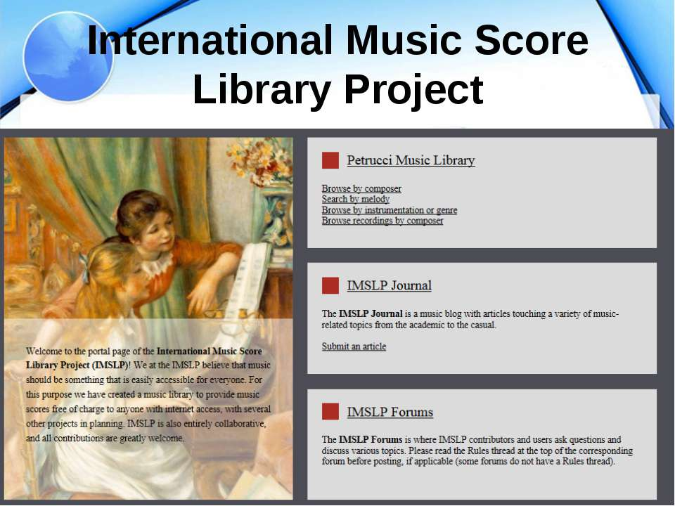 International Music Score Library Project