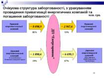 * Очікуєма структура заборгованості, з урахуванням проведення приватизації ен...