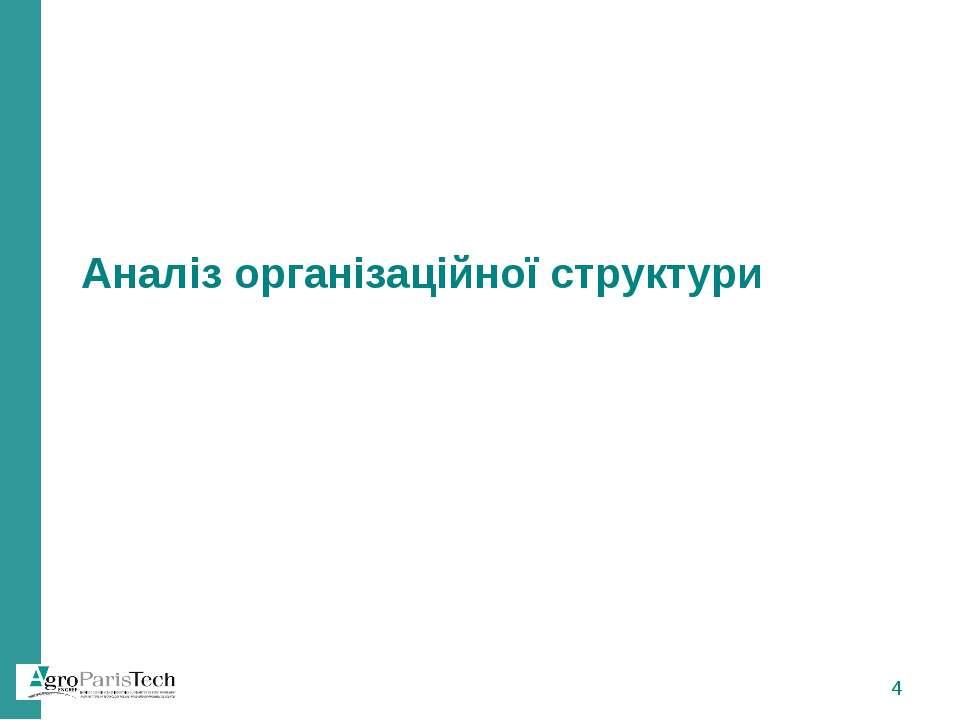 Аналіз організаційної структури *
