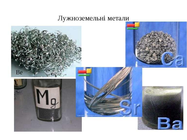 Лужноземельні метали Be