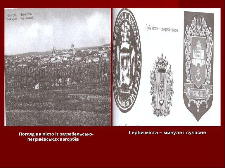 Погляд на місто із загребельсько-петриківських пагорбів Герби міста – минуле ...