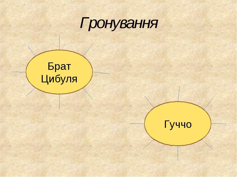 Гронування Брат Цибуля Гуччо