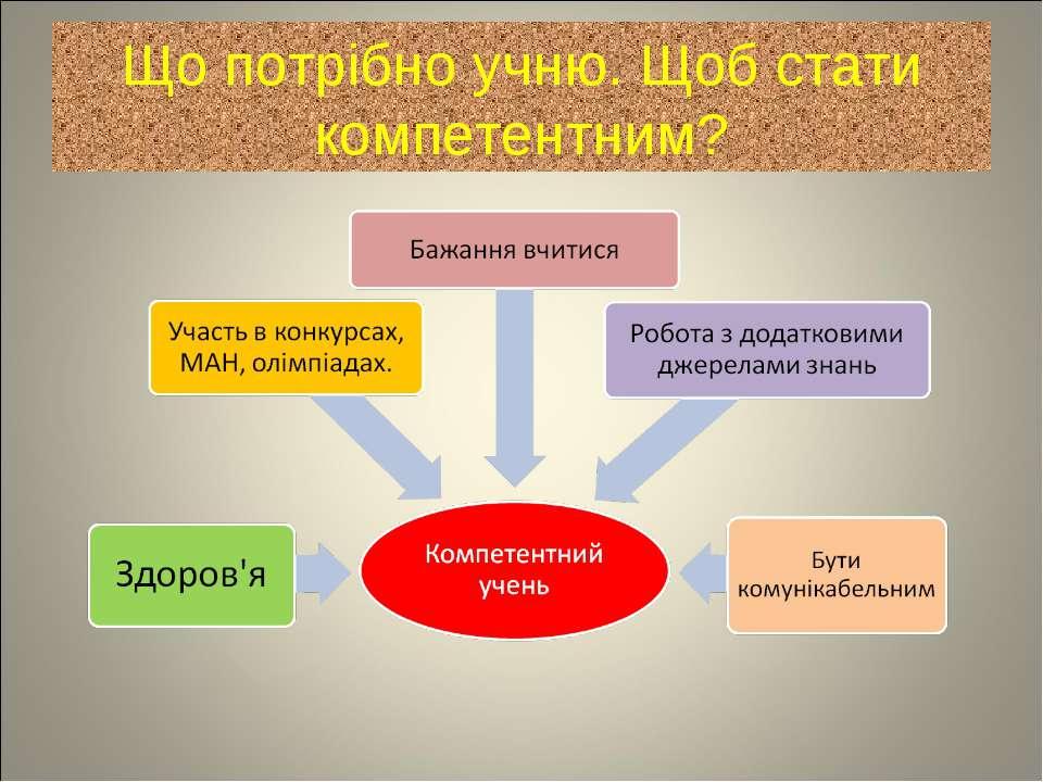 Що потрібно учню. Щоб стати компетентним?
