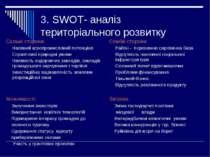 3. SWOT- аналіз територіального розвитку