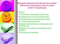 Програма управлінської діяльності в умовах здійснення моніторингу якості мовн...