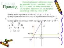 Написати рівняння і побудувати пряму, що належить пучку з центром у точці M1(...