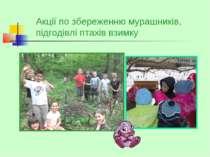 Акції по збереженню мурашників, підгодівлі птахів взимку