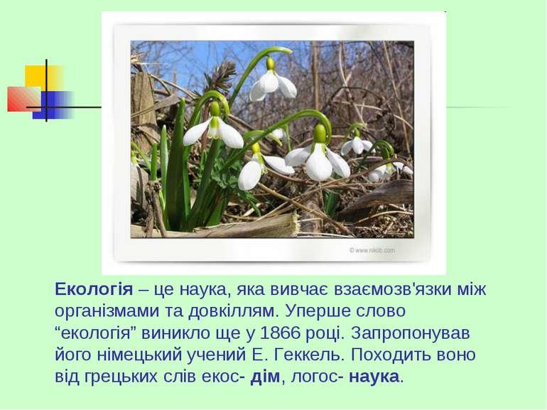 Екологія – це наука, яка вивчає взаємозв'язки між організмами та довкіллям. У...