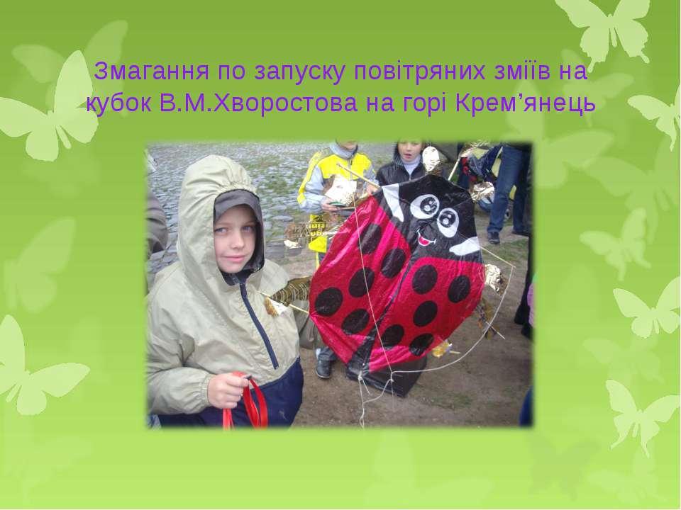 Змагання по запуску повітряних зміїв на кубок В.М.Хворостова на горі Крем'янець