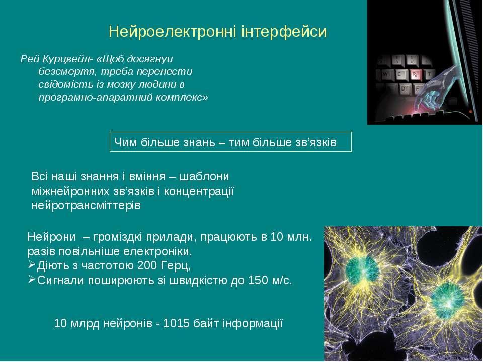 Нейроелектронні інтерфейси Рей Курцвейл- «Щоб досягнуи безсмертя, треба перен...