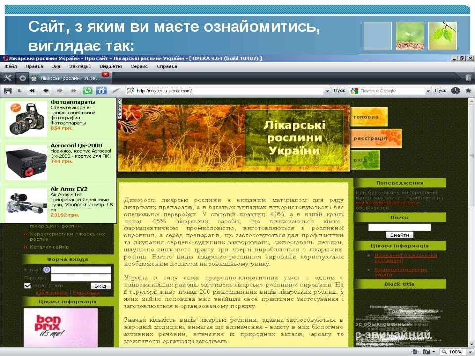 Сайт, з яким ви маєте ознайомитись, виглядає так: www.themegallery.com