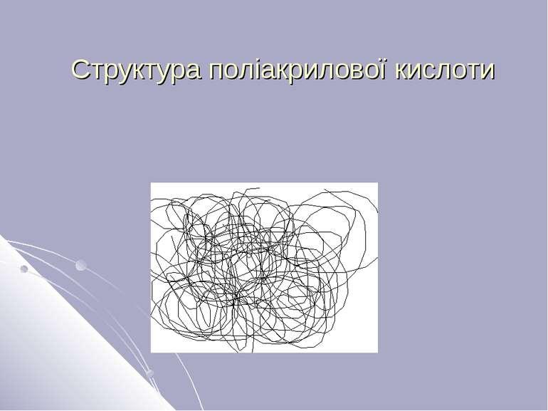 Структура поліакрилової кислоти