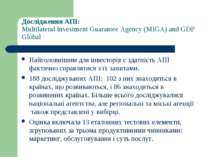 Дослідження АПІ: Multilateral Investment Guarantee Agency (MIGA) and GDP Glob...
