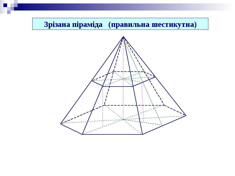 Зрізана піраміда (правильна шестикутна)