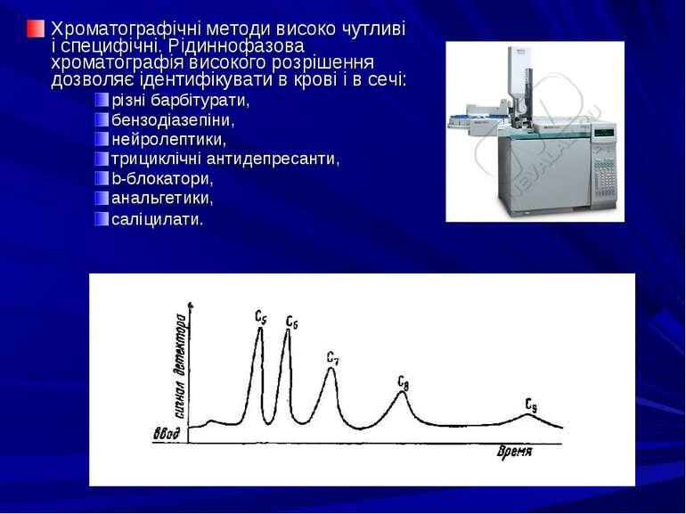 Хроматографічні методи високо чутливі і специфічні. Рідиннофазова хроматограф...