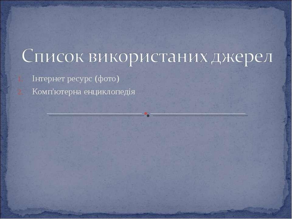 Інтернет ресурс (фото) Комп'ютерна енциклопедія