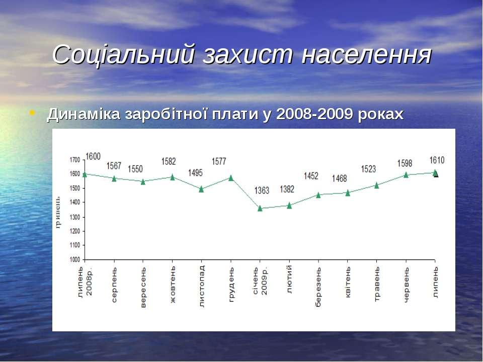 Соціальний захист населення Динаміка заробітної плати у 2008-2009 роках ...