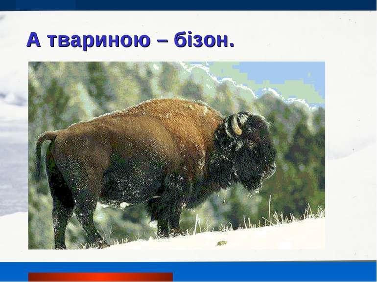 А твариною – бізон.