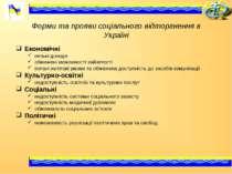 Форми та прояви соціального відторгнення в Україні Економічні низькі доходи о...
