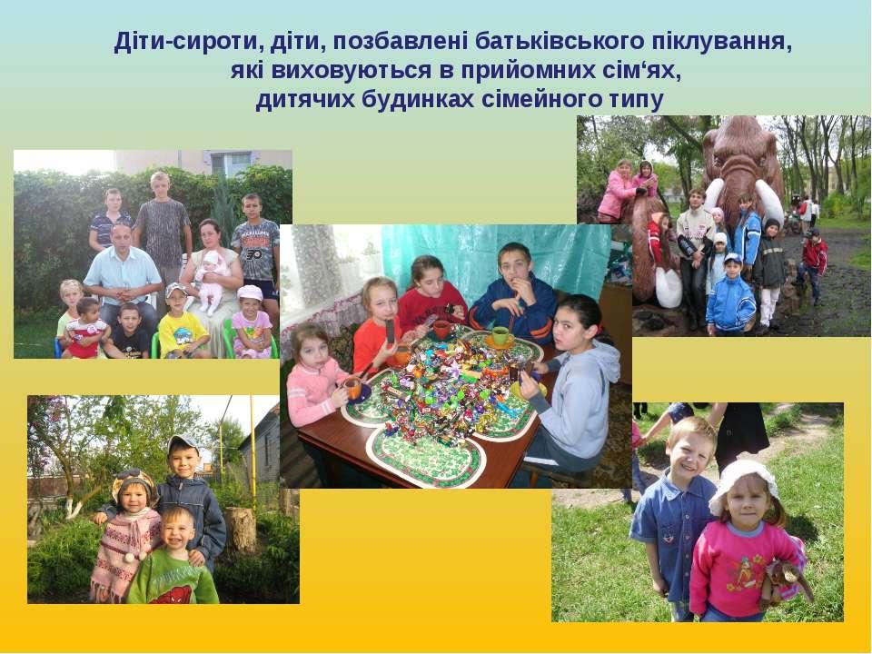 Діти-сироти, діти, позбавлені батьківського піклування, які виховуються в при...
