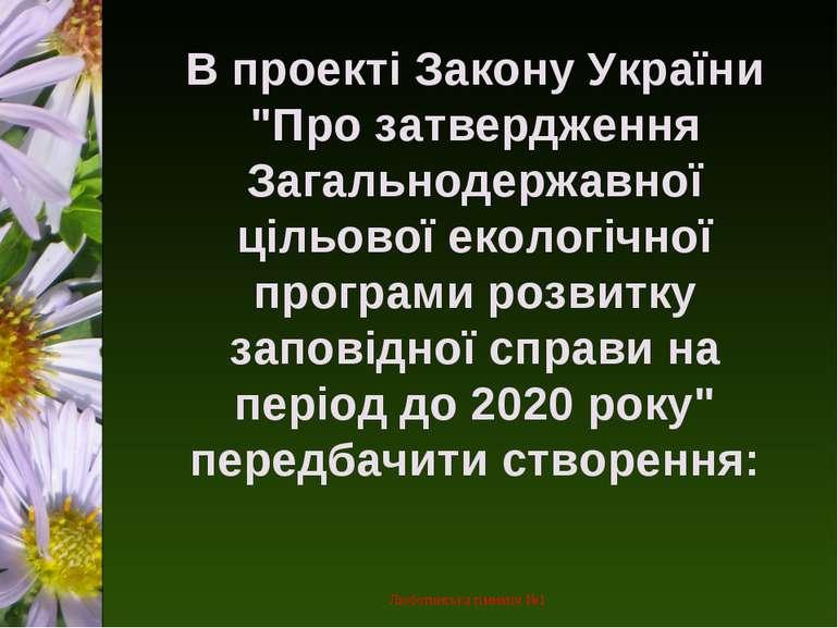 """В проекті Закону України """"Про затвердження Загальнодержавної цільової екологі..."""