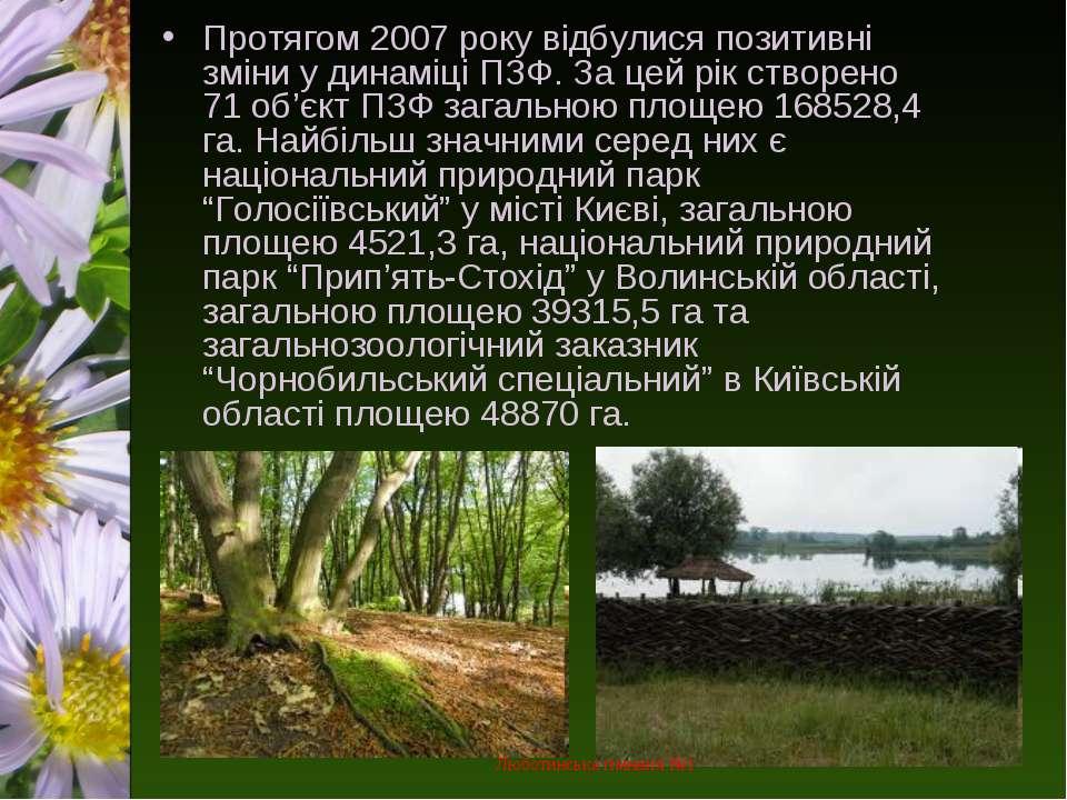 Протягом 2007 року відбулися позитивні зміни у динаміці ПЗФ. За цей рік створ...