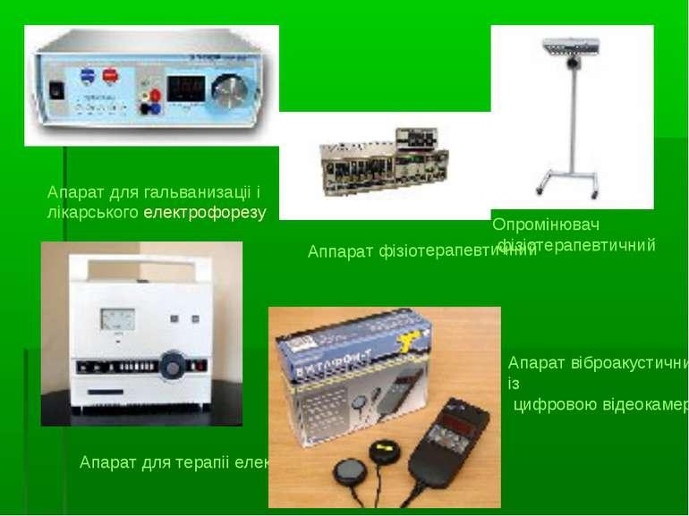 Апарат для гальванизаціі і лікарського електрофорезу Опромінювач фізіотерапев...