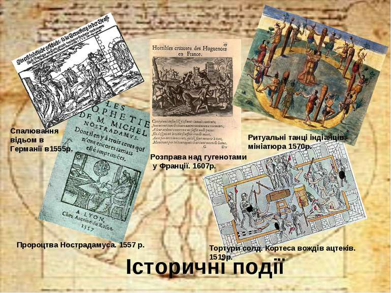 Історичні події Спалювання відьом в Германії в1555р. Пророцтва Нострадамуса. ...