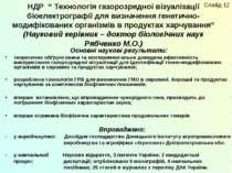 """НДР """" Технологія газорозрядної візуалізації біоелектрографії для визначення г..."""