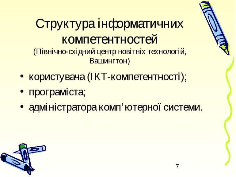 Структура інформатичних компетентностей (Північно-східний центр новітніх техн...