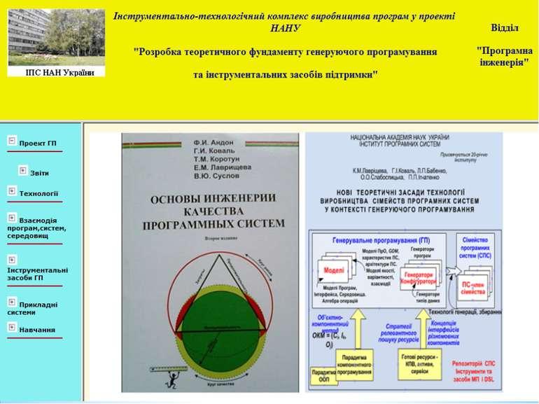 Рис. 7.3. Основні методологічні матеріали проекту