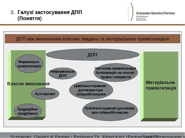 ДПП між виконанням власних завдань та матеріальною приватизацією Власне викон...