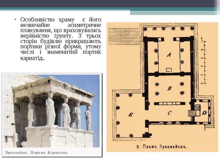 Особливістю храму є його незвичайне асиметричне планування, що враховувалась ...