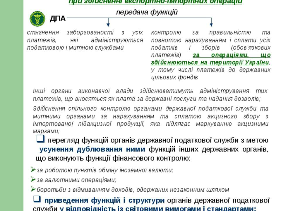 V. Реформування системи та методів адміністрування податків і зборів (обов'яз...