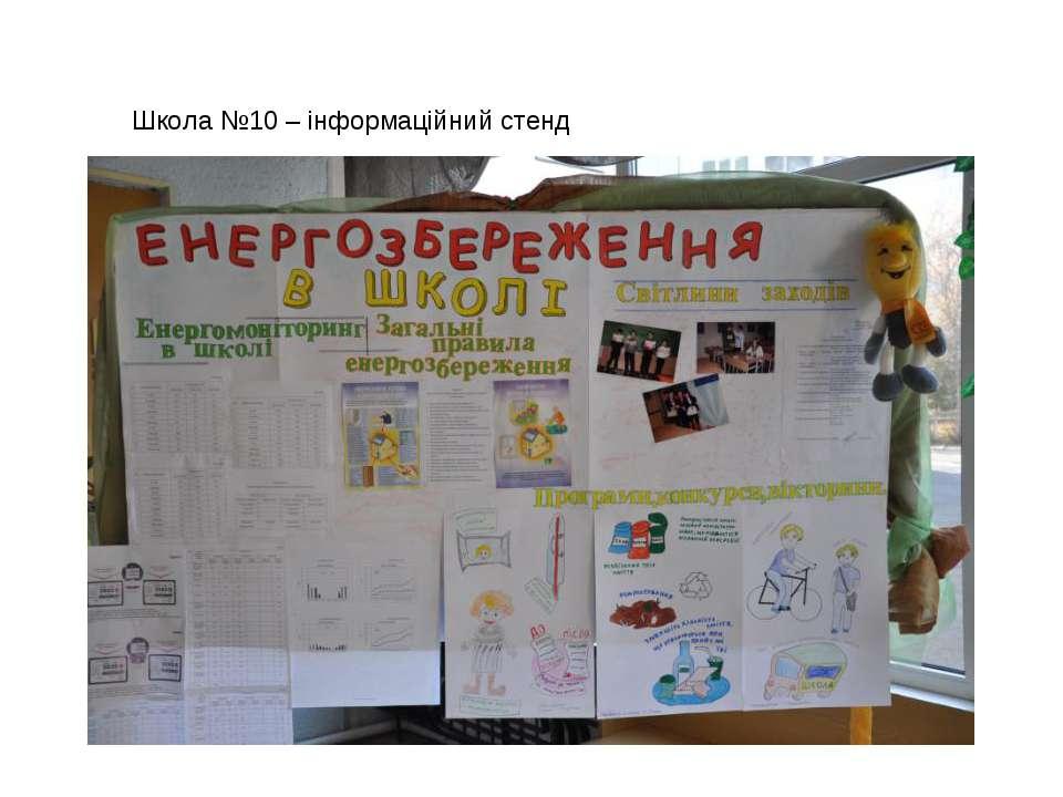 Школа №10 – інформаційний стенд