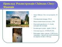 Приклад: Реконструкція Châteaux Clecy / Франція Замок Châteaux Clecy построен...