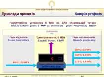 Приклади проектів Sample projects Електроенергія, 6 МВт Electric Power, 6 MW ...