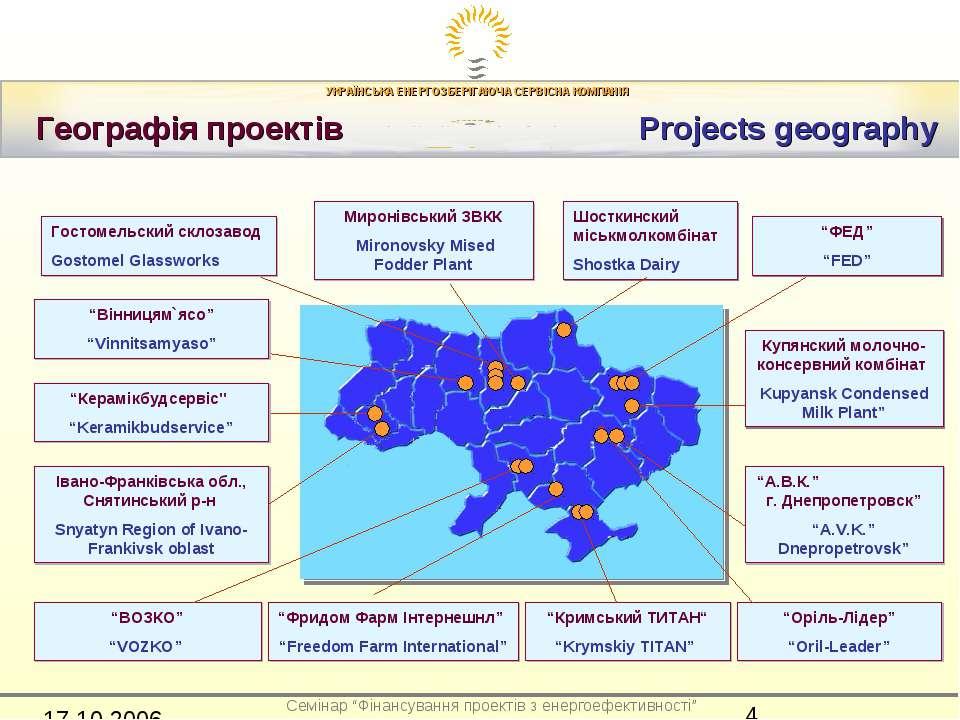 Географія проектів Projects geography Гостомельский склозавод Gostomel Glassw...