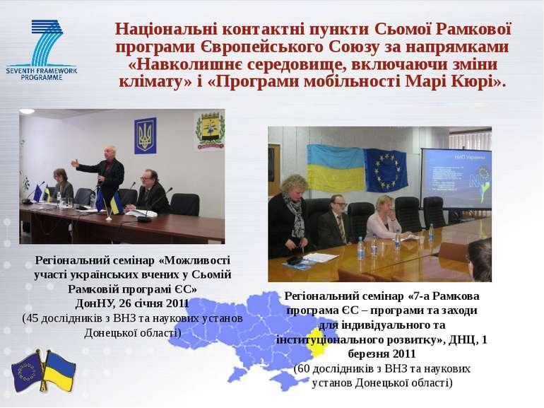 Національні контактні пункти Сьомої Рамкової програми Європейського Союзу за ...