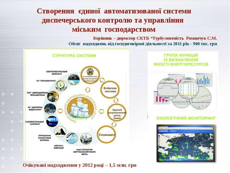 Створення єдиної автоматизованої системи диспечерського контролю та управлінн...