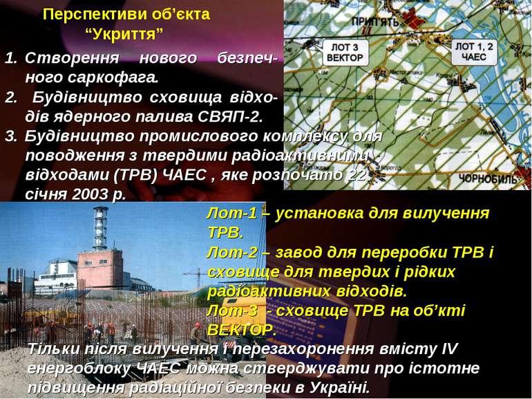 """Перспективи об'єкта """"Укриття"""" Будівництво промислового комплексу для поводжен..."""