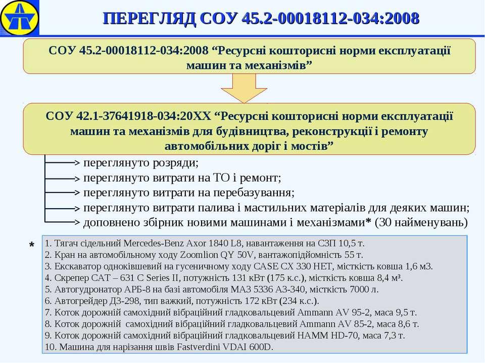 ПЕРЕГЛЯД СОУ 45.2-00018112-034:2008 переглянуто розряди; переглянуто витрати ...