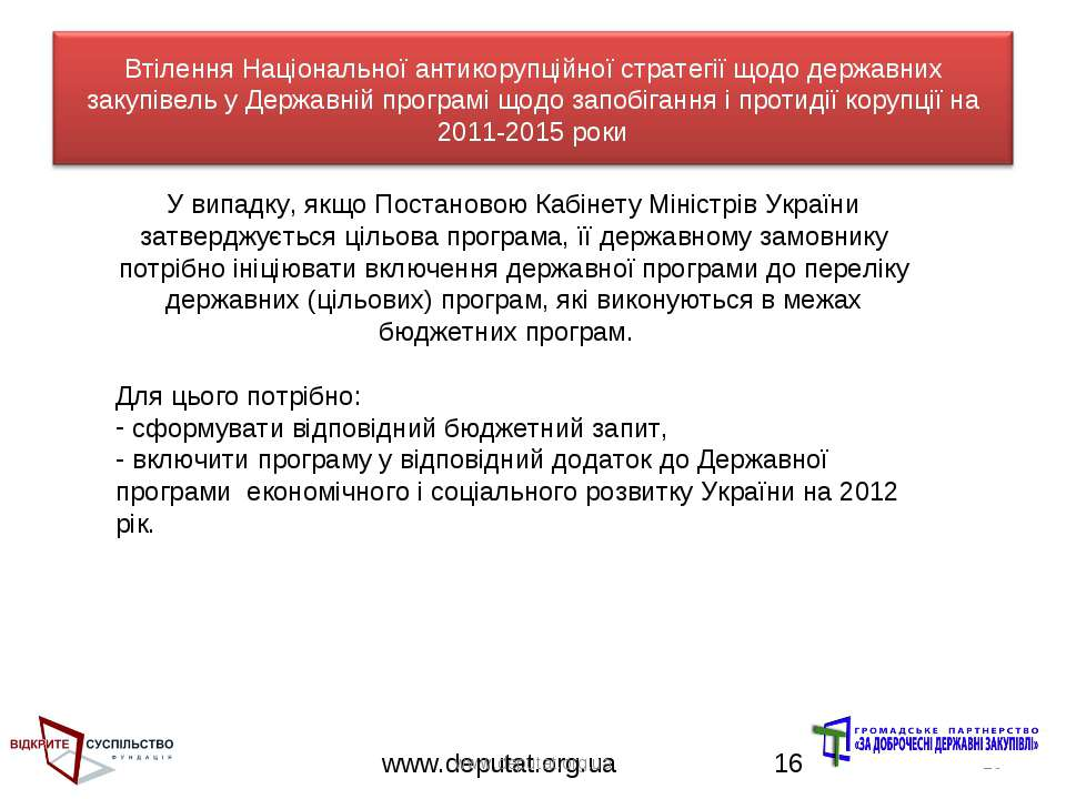 www.deputat.org.ua * У випадку, якщо Постановою Кабінету Міністрів України за...