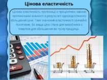 Цінова еластичність Цінова еластичність пропозиції є процентною зміною пропон...