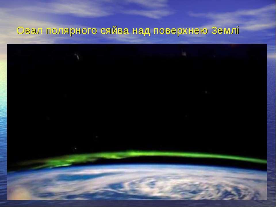 Овал полярного сяйва над поверхнею Землі