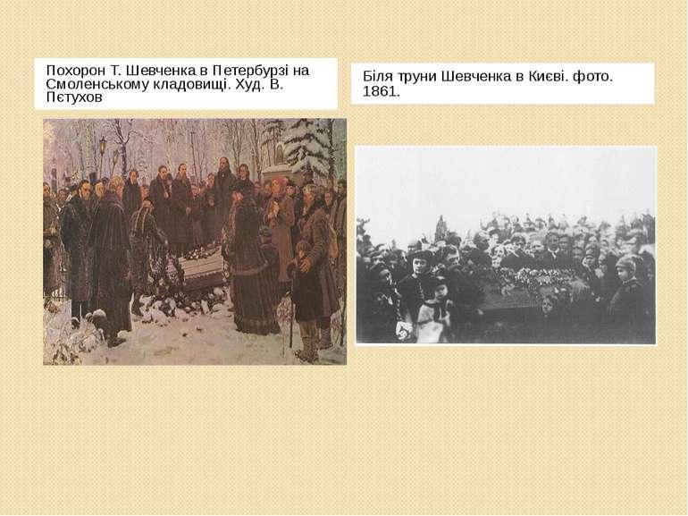 Похорон Т. Шевченка в Петербурзі на Смоленському кладовищі. Худ. В. Пєтухов Б...